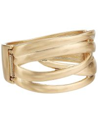 The Sak - Metallic Crisscross Bangle Bracelet - Lyst