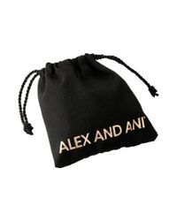ALEX AND ANI - Metallic Kindred Cord (red) Heart Light Pink Rose Bracelet - Lyst