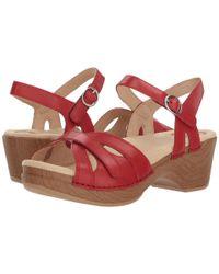 Dansko - Pink Season (gold Crinkle) Women's Shoes - Lyst