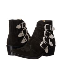 Toga Pulla - Black Western Velvet Ankle Boots - Lyst