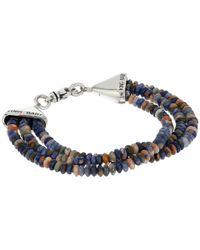 King Baby Studio - Multicolor Triple Strand Orange Sodalite Bead Bracelet W/ Cone Clasp - Lyst