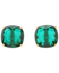 kate spade new york | Green Small Square Studs | Lyst