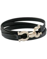 Ferragamo | Metallic 344763 Gancini Bracelet | Lyst