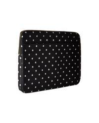 "Kate Spade - Black Classic Nylon Mini Pavillion Dot Laptop Zip Sleeve With Back Pocket 13"" - Lyst"