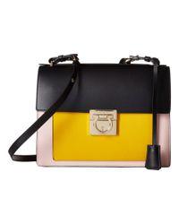 Ferragamo - Metallic Small Sofia Color Block Leather Shoulder Bag - Lyst