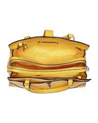 COACH - Yellow Grain Leather Mercer 24 Satchel - Lyst
