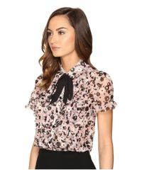 kate spade new york - Multicolor Posy Grove Chiffon Shirt - Lyst