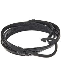 Miansai | Multicolor Noir Hook On Leather Bracelet for Men | Lyst