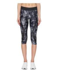 838f9f7c72766 adidas By Stella McCartney. Women's Black Run Climalite 3/4 Tights Printed  S99231