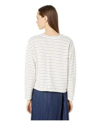 Vince White Tri-stripe Long Sleeve Pullover