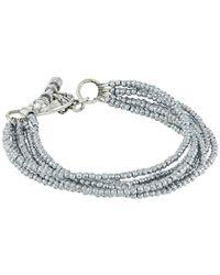 King Baby Studio - Metallic 8 Strand Hematite Bracelet W/ Mini Toggle Clasp - Lyst