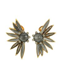 Oscar de la Renta | Multicolor Floral Resin And Pave C Earrings | Lyst