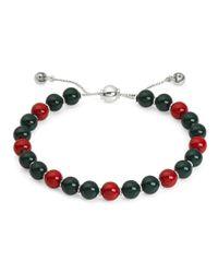 058d9596d Gucci Boule Britt Bracelet W/ Red And Green Wooden Beads in Green - Lyst