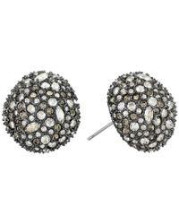 Alexis Bittar - Metallic Crystal Encrusted Button Post Earrings - Lyst