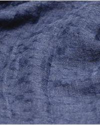 Zara   Blue Basic Semi-plain Viscose Scarf   Lyst