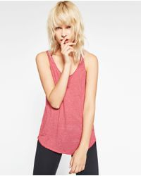 Zara | Purple Tank Top | Lyst