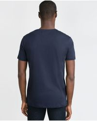 Zara | Black Relax Fit T-shirt for Men | Lyst