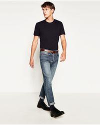 Zara | Black Super Slim-fit T-shirt for Men | Lyst