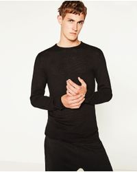 Zara | Black Textured Weave Sweater for Men | Lyst