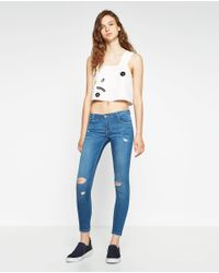 Zara | Blue Body Curve Jeggings | Lyst