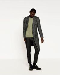 Zara   Green Plain Sweater for Men   Lyst