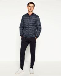 Zara | Blue Basic Puffer Jacket for Men | Lyst