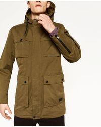 Zara | Green Long Cotton Parka for Men | Lyst