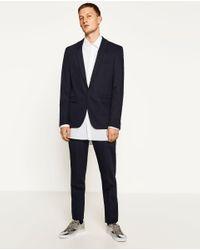 Zara | Blue Chintz Suit Blazer for Men | Lyst