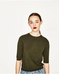 Zara | Multicolor Round Neck Sweater | Lyst