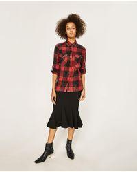 Zara | Multicolor Check Military Shirt | Lyst