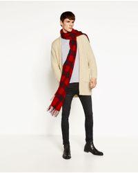 Zara   Natural Mohair Cardigan for Men   Lyst