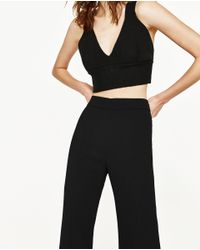 Zara | Black Bralette Top | Lyst