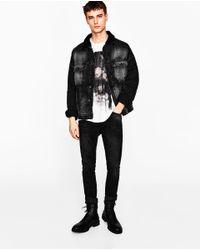 Zara | White Floral Foil T-shirt for Men | Lyst