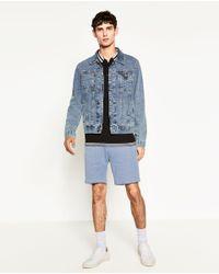 Zara | Blue Piqué Shorts for Men | Lyst