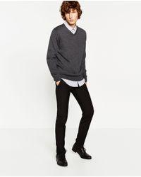 Zara | Gray Merino Wool Sweater for Men | Lyst