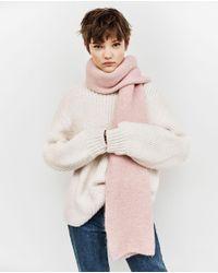 Zara | Pink Soft Knit Scarf | Lyst