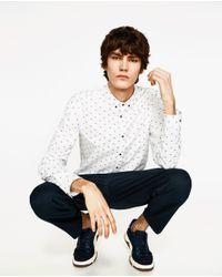 Zara | White Dolphin Print Shirt for Men | Lyst