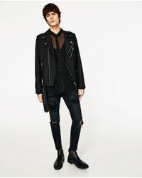 Zara | Black Leopard Print Shirt for Men | Lyst