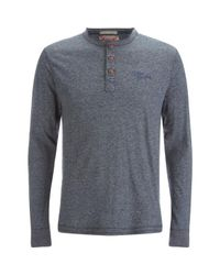Tokyo Laundry | Blue Timber Henley Long Sleeve Top for Men | Lyst