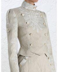 Zimmermann - White Master Adorn Military Jacket - Lyst