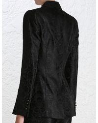 Zimmermann - Black Master Jacquard Blazer - Lyst