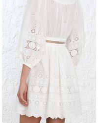 Zimmermann - White Kali Broiderie Dress - Lyst