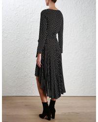 Zimmermann | Black Stranded Wrap Dress | Lyst