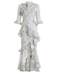 Zimmermann | Gray Stranded Embroidery Dress | Lyst