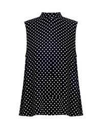 Zimmermann - Black Dot Stranded Collared Tank - Lyst