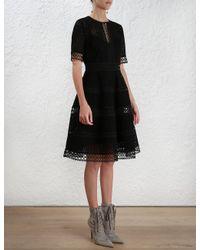Zimmermann | Black Bowerbird Embroidery Dress | Lyst