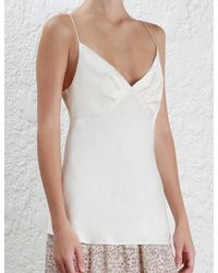 Zimmermann - Multicolor Sueded Tuck Cami - Lyst