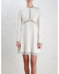 Zimmermann | White Lace Shift Dress | Lyst