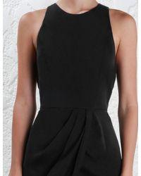 Zimmermann - Black Sueded Drape Dress - Lyst