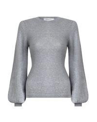 Zimmermann | Multicolor Stranded Blouson Sweater | Lyst